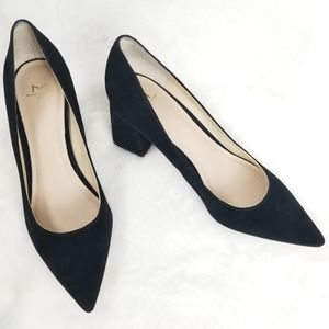 Marc Fisher Zala Suede Pointed Toe Pumps Black